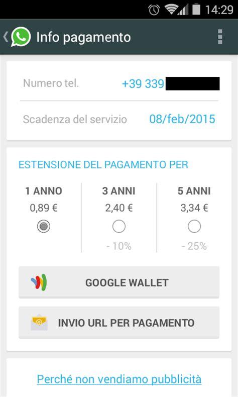 tutorial come rinnovare whatsapp senza pagare come pagare whatsapp e app play senza carta di credito