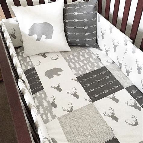 baby boy crib themes best 25 woodland nursery bedding ideas on boy