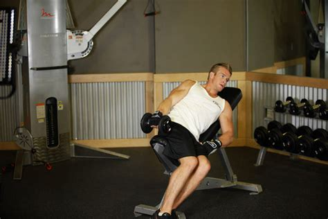 Raised Bench Press one arm incline lateral raise exercise guide and