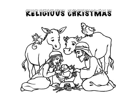 religious christmas coloring pages coloring pages
