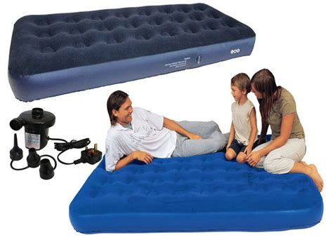 inflatable singledouble flocked air bed camping relax