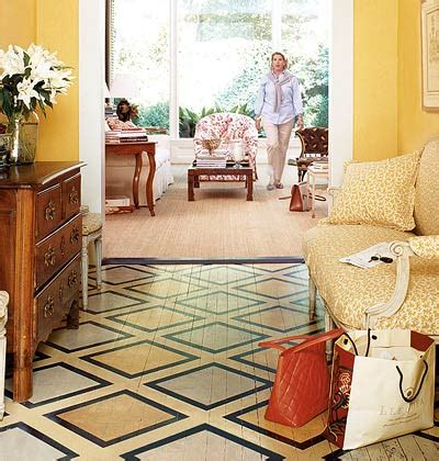 Pretty Painted Floors With Flower Designs Try A Graphic Pattern