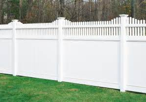Backyard Fence Prices Chesterfield With Huntington Accent Vinyl Fence By