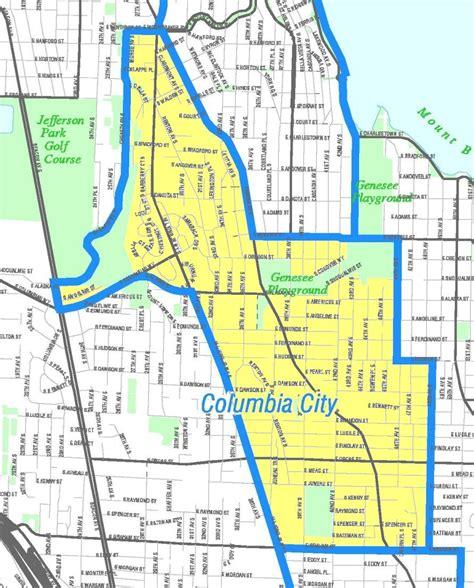 seattle neighborhood map file seattle columbia city map jpg wikimedia commons