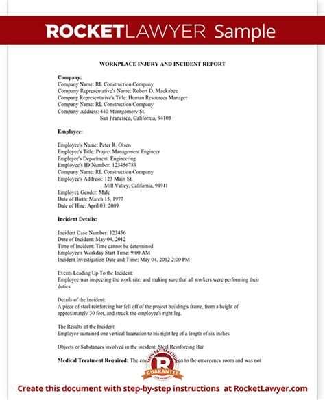 workplace injury report form template employee injury report form for osha work