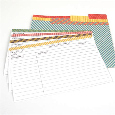 printable recipe index card dividers 25 free printable recipe cards