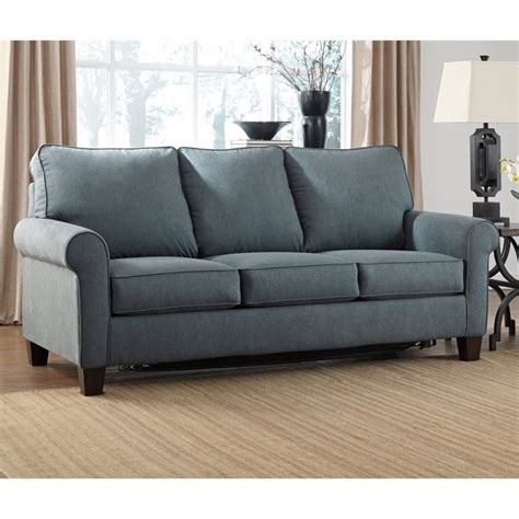 denim sofa sleeper ashley zeth fabric full size sleeper sofa in denim 2710136