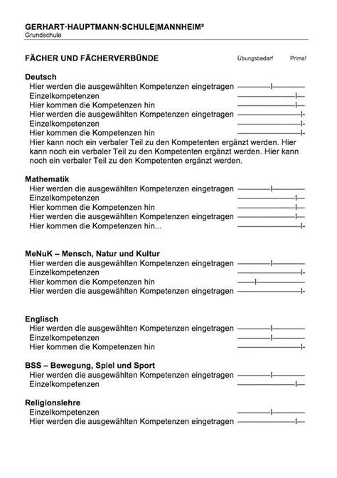 Zeugnis Schreiben Grundschule Muster Gerhart Hauptmann Schule Ohne Noten Gerhart 183 Hauptmann 183 Schule Mannheim 178