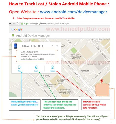 how to track a android phone track lost stolen android mobile haneef puttur