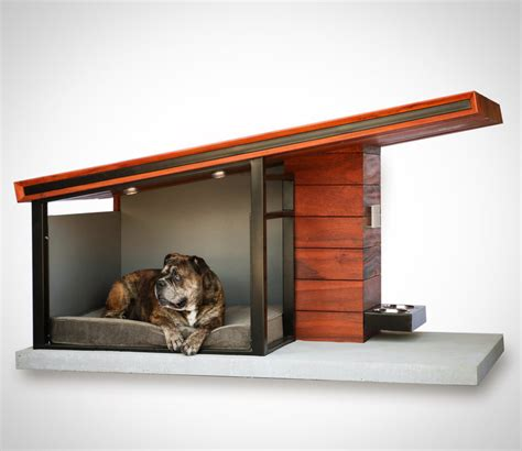 steel dog house rah design s mdk9 is a teak and steel dog house for the four legged elite american