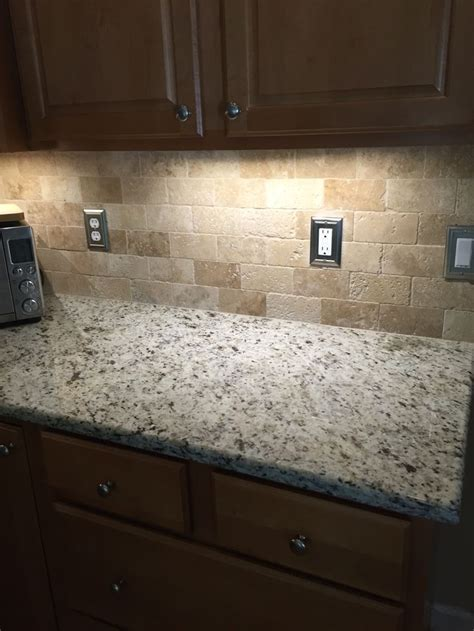 travertine kitchen backsplash ideas tumbled travertine backsplash tile