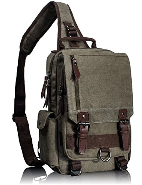 small one shoulder backpack leaper canvas one sling cross messenger bag