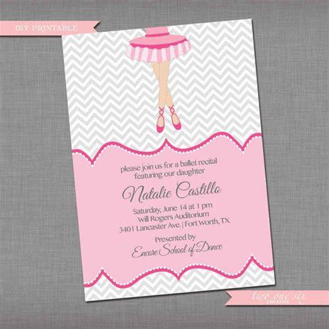 printable recital invitations dance recital invitation ballet recital from twoonesix