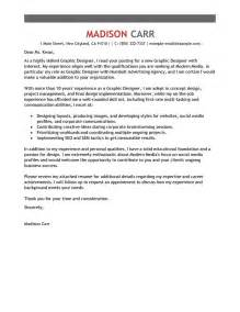 Graphics Designer Cover Letter by Outstanding Cover Letter Exles For Every Search