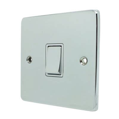 low profile light switch low profile rounded polished chrome socket switches