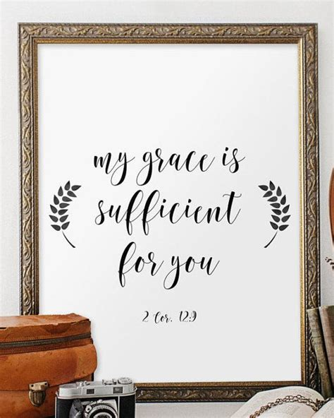 printable scripture wall art bible verse print 2 corinthians 12 9 scripture art print