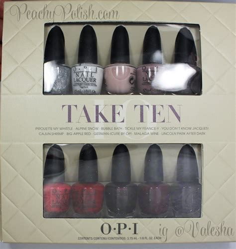 opi take ten holiday gift set 2013 peachy polish