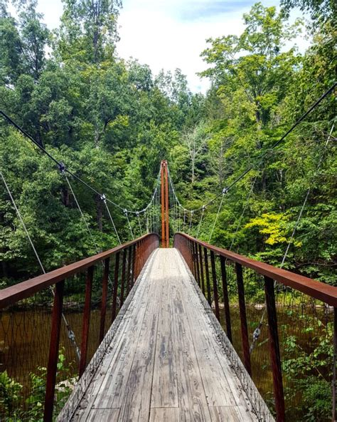the swinging bridge the swinging bridge tucked away on a connecticut hiking trail
