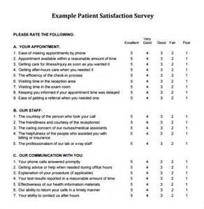 patient satisfaction survey template free 8 client satisfaction survey templates free sle
