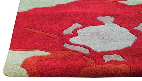Poppy Area Rug by Mat The Basics Poppy Area Rug Orange