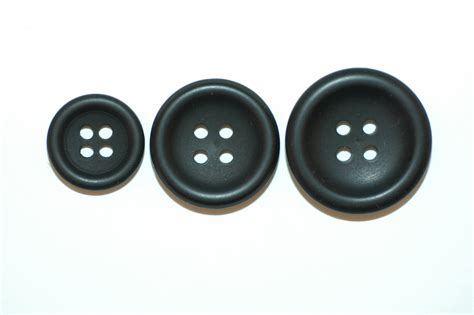 Button Black by Black Concave Suit Button