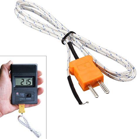 Probe Sensor Thermocouple Probe Digital Temperature K Type 50650 5pcs k type thermocouple probe sensor digital probe tester 100cm 1m wire measuring temperature