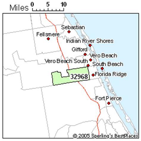 zip code map vero beach fl map of vero beach