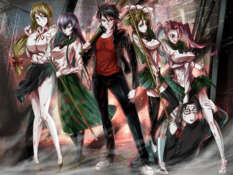 highschool of the dead high school of the dead fanservice anime images
