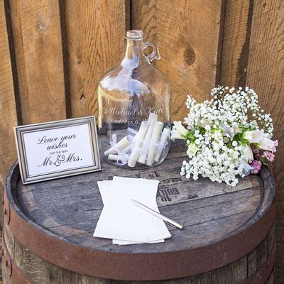 wedding wishes book personalized wedding wishes in a bottle guest book alternative