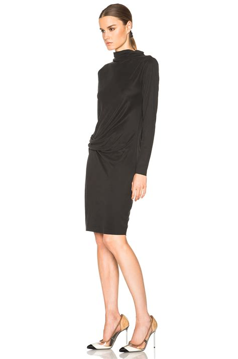 Black Lussile Katun Mini Dress lyst by malene birger tiles mini dress in black