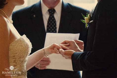 Wedding Ceremony Ring Exchange by Hamilton Photography S Engineer S Club