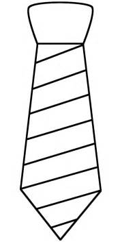 Neck Tie With Stripes  Coloring Page Fathers Day sketch template