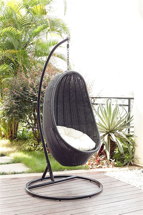 swinging chairs outdoor outdoor wicker swing chair home decorating ideas