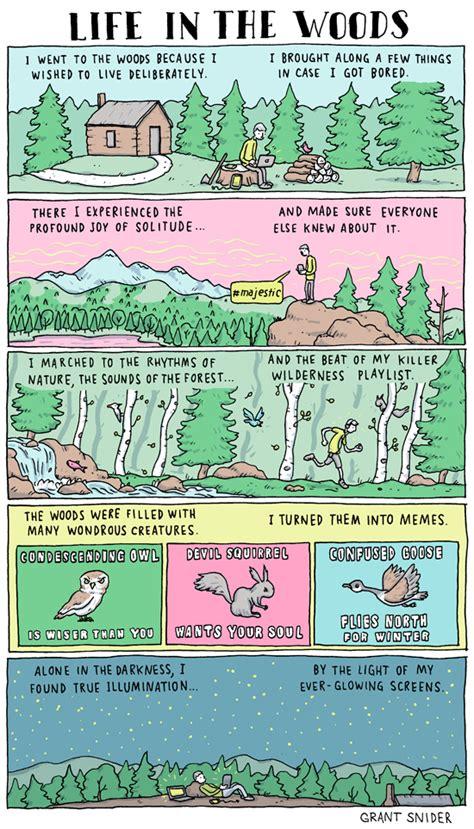 walden comic book incidental comics in the woods