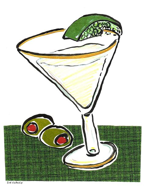 martini illustration illustration martini and wine sue clancy