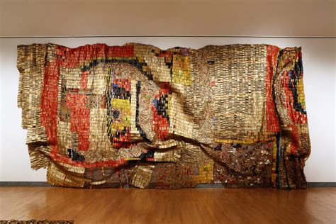 Painting A Mobile Home Interior a million pieces of home el anatsui at brooklyn museum