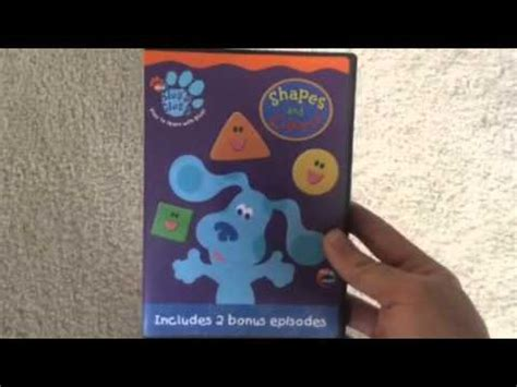 colors dvd blue s clues shapes and colors dvd review
