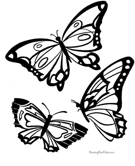 printable pictures of butterflies az coloring pages