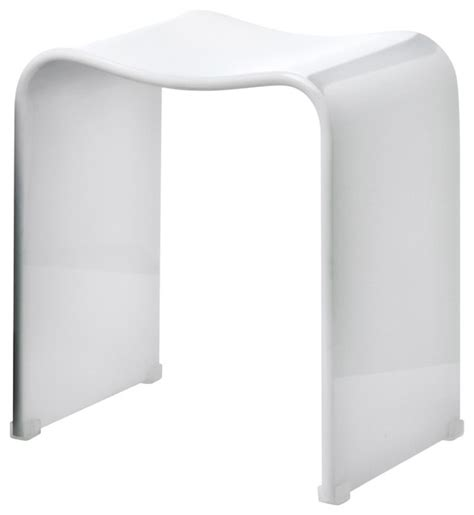 acrylic shower bench dwba backless acrylic shower bench white contemporary