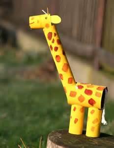 bricolage fabriquer une girafe en papier