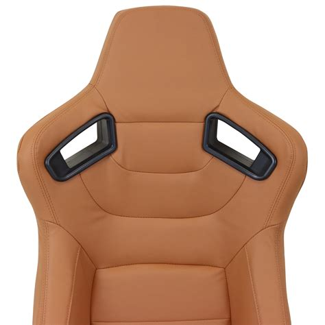fully reclining seats pair of brown pvc leather fully reclining car