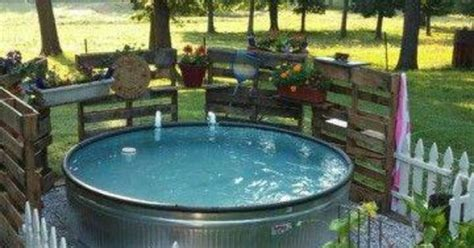 hot tub water trough ideas back yard pinterest the o jays pools and picket fences