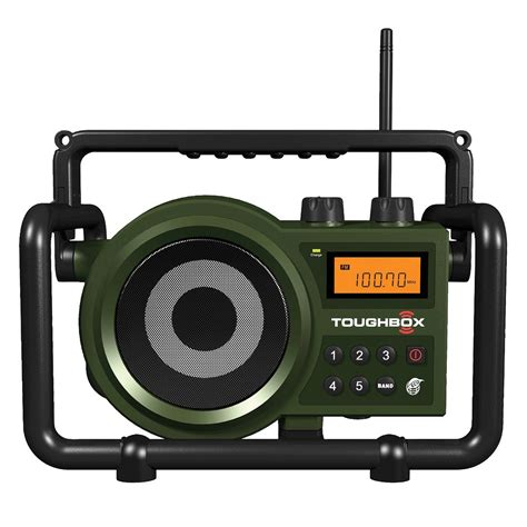 rugged portable radio sangean 97077855m toughbox am fm ultra rugged digital radio