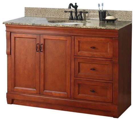 bathroom vanities naples fl naples vanity with right drawers warm cinnamon with