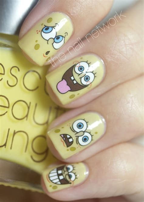 imagenes de uñas pintadas de hora de aventura spongebob nails pictures photos and images for facebook