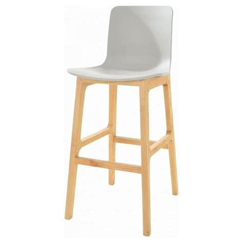 Grey And Wood Bar Stools by Buy Grey And Light Wood Contemporary Bar Stool From Fusion
