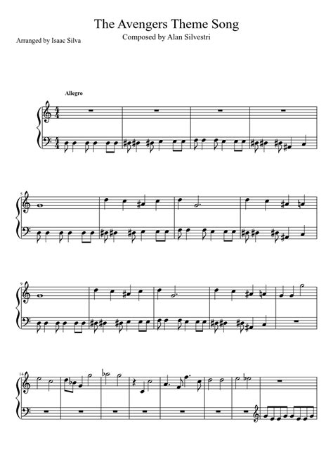 theme song avengers the avengers theme song sheet music musescore