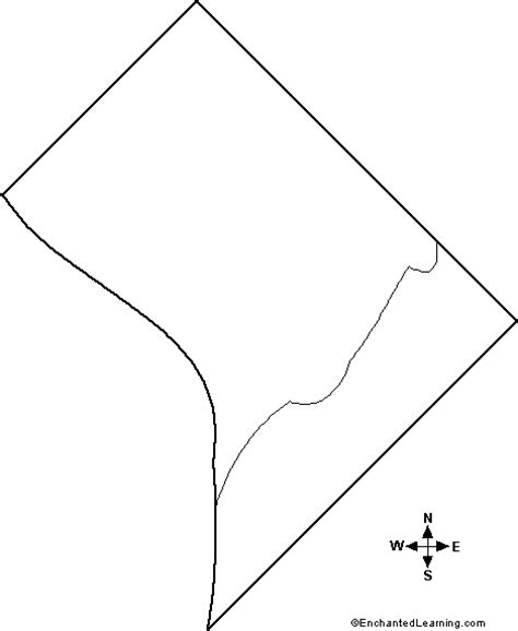 Blank Outline Map Of Washington State by Outline Map Washington D C Enchantedlearning