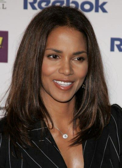 halle berry sporting  long straight hairstyle  movement