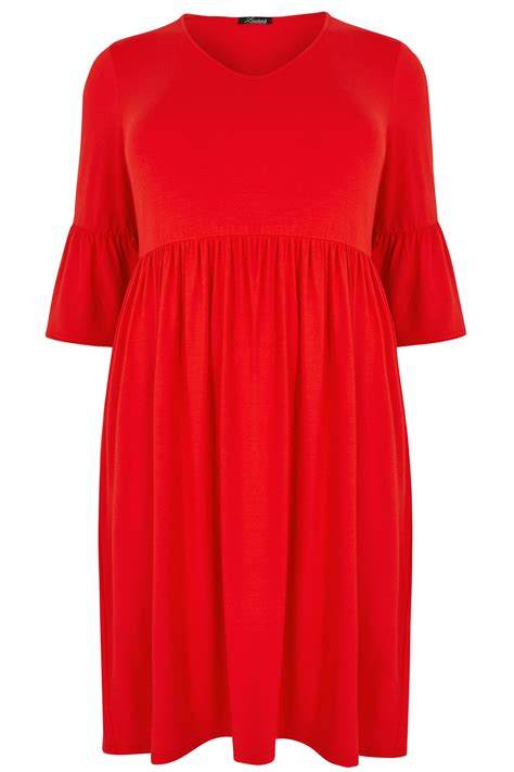 Gap Branded Flute Dress Limited Collection Jersey Dress With Flute Sleeves